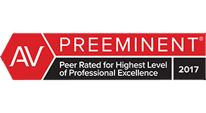 AV | Preeminent | Peer Rated for Highest Level of Professional Excellence | 2017